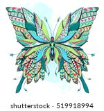 patterned butterfly on the... | Shutterstock .eps vector #519918994