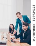 executive businessman giving... | Shutterstock . vector #519924115