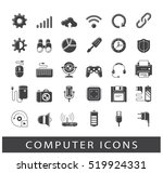 icons for web and communication ... | Shutterstock .eps vector #519924331