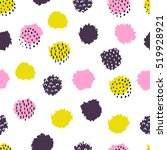 hand drawn seamless pattern.... | Shutterstock .eps vector #519928921