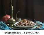 mujaddara or traditional rice...   Shutterstock . vector #519930754