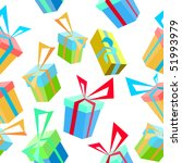 seamless pattern with gifts | Shutterstock .eps vector #51993979
