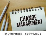change management text written... | Shutterstock . vector #519942871