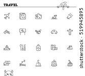 travel flat icon set....