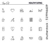 healthy eating flat icon set.... | Shutterstock .eps vector #519946609