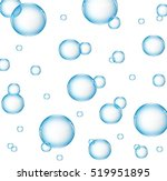 Air Water Bubbles In Blue Colo...
