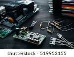 components for electronics... | Shutterstock . vector #519953155