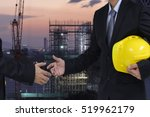 two businessman  handshake for... | Shutterstock . vector #519962179