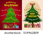 christmas tree   gift boxes ... | Shutterstock .eps vector #519962809