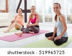 three happy girls posing after... | Shutterstock . vector #519965725