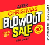after christmas blowout sale... | Shutterstock .eps vector #519966355