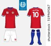 set of soccer kit or football... | Shutterstock .eps vector #519969367