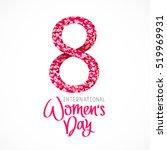 8 march   international women's ... | Shutterstock .eps vector #519969931