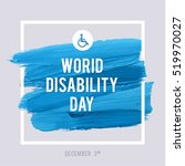 world disability day typography ... | Shutterstock .eps vector #519970027