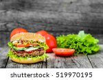 Beef Burger  Hamburger With...