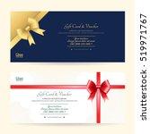 elegant gift voucher or gift... | Shutterstock .eps vector #519971767