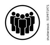 group of people in a safe space ... | Shutterstock .eps vector #519971971