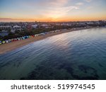 aerial view of sunrise at...   Shutterstock . vector #519974545