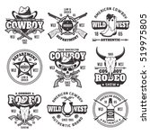 wild west  sheriff department ... | Shutterstock .eps vector #519975805