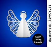 laser cutting template. laser... | Shutterstock .eps vector #519976261