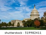 Stock photo daytime landscape us capitol building washington dc grass blue sky 519982411