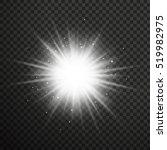 white glowing light burst... | Shutterstock .eps vector #519982975