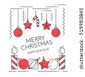 christmas and new year... | Shutterstock .eps vector #519983845