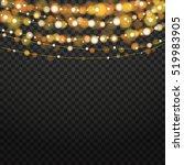 christmas lights isolated... | Shutterstock .eps vector #519983905