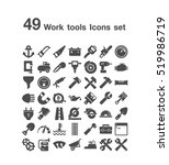 49 work tools icon set | Shutterstock .eps vector #519986719
