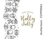 christmas background with flat... | Shutterstock .eps vector #519990061