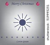 white sun icon on gray... | Shutterstock .eps vector #519995251