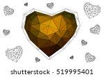 heart isolated on white... | Shutterstock .eps vector #519995401