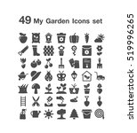 49 my garden icon set | Shutterstock .eps vector #519996265