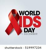 aids awareness red ribbon.... | Shutterstock .eps vector #519997234