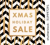 christmas holiday sale poster.... | Shutterstock .eps vector #519997291