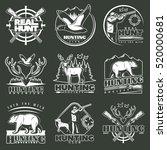 set of nine isolated hunting...   Shutterstock .eps vector #520000681