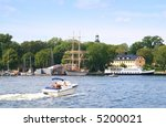 Stockholm summer scene - stock photo