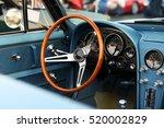classic retro  vintage blue car | Shutterstock . vector #520002829