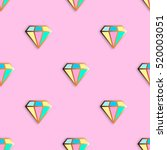 fashion pins seamless pattern.... | Shutterstock .eps vector #520003051