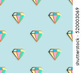 fashion pins seamless pattern.... | Shutterstock .eps vector #520003069