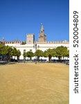 Small photo of Real Alcazar Gardens in Seville. November 17, 2016, Seville - Spain