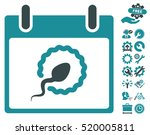 sperm insemination calendar day ... | Shutterstock .eps vector #520005811