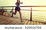 young fitness sports woman ... | Shutterstock . vector #520010704