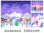 merry christmas. greeting cards ... | Shutterstock .eps vector #520011439