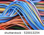 closeup of cable and wire in... | Shutterstock . vector #520013254