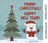 merry christmas and happy new... | Shutterstock .eps vector #520013437