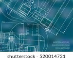 mechanical engineering drawing. ... | Shutterstock .eps vector #520014721