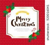 christmas frame | Shutterstock .eps vector #520016041