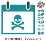 death skull calendar day... | Shutterstock .eps vector #520017349