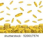 golden coins falling.vector... | Shutterstock .eps vector #520017574